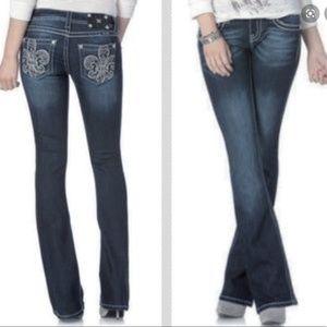 Miss Me fleur de Lisa Jeans Boot Cut Flare Denim